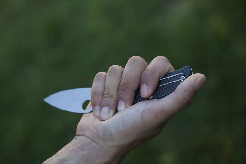 grips with spyderco sage 1 knife
