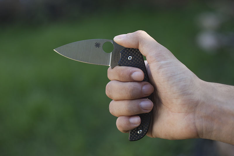 choil on spyderco sage 1 indoor use knife