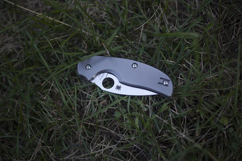full titanium spyderco knife