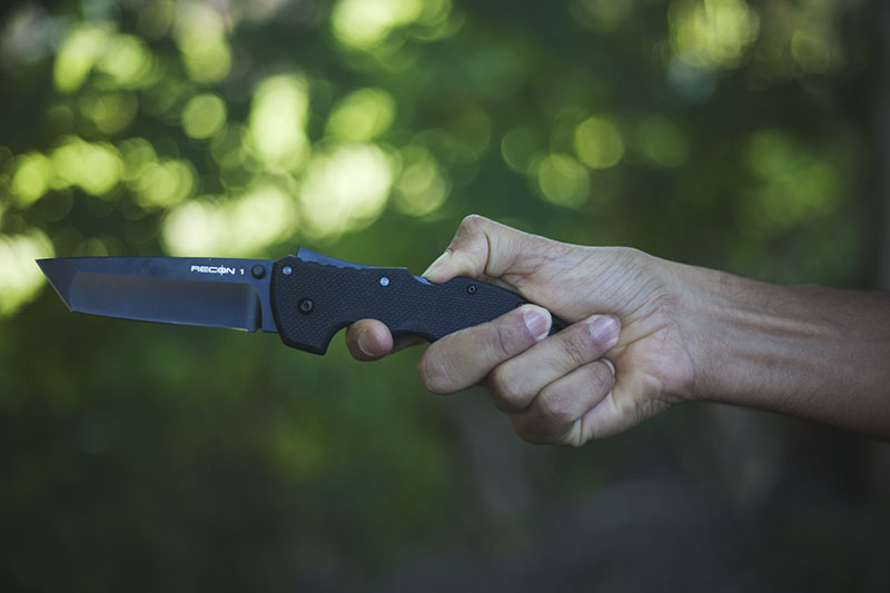 tactical folding knife tanto cold steel recon 1 review