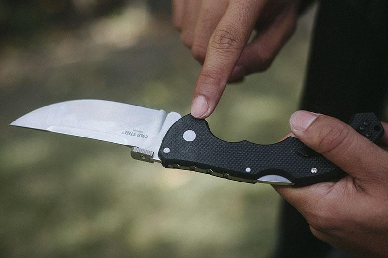 cold steel knife review edc tactical folder talwar pocket knife