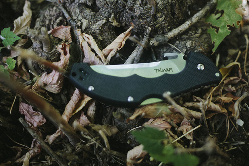 tactical knife folding oversized cold steel talwar review