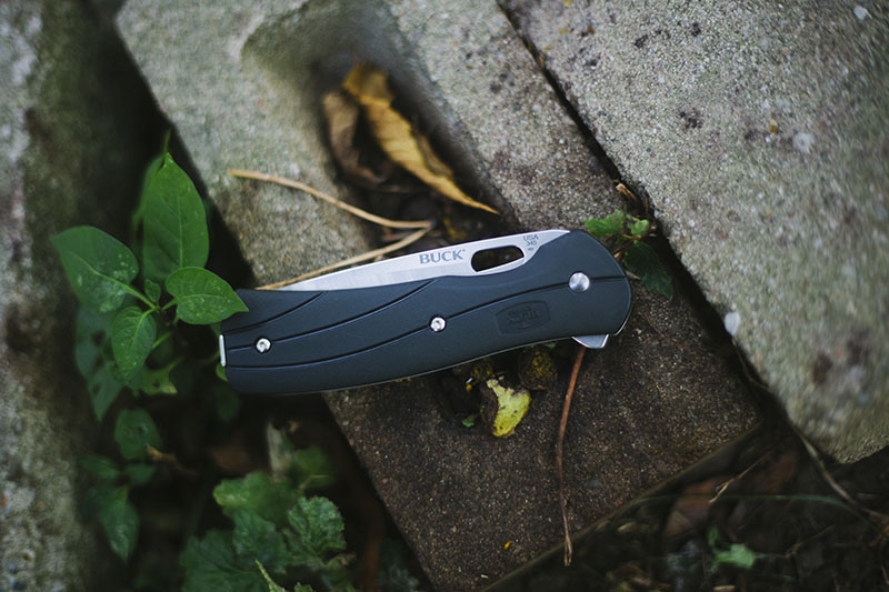survival blog gear review buck vantage select large 345 folding flipper