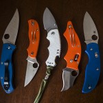 Knife Drop: Blue, Orange, & White Handles
