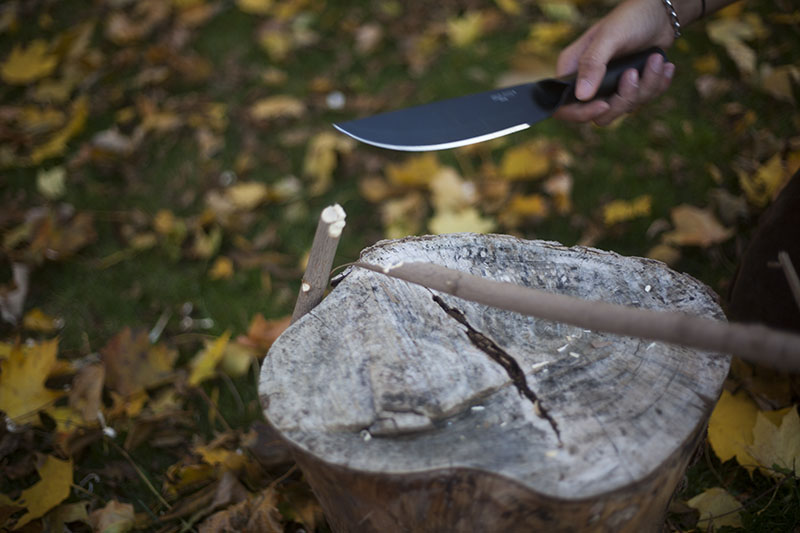 hollow handle knife cold steel bushman review spear testing