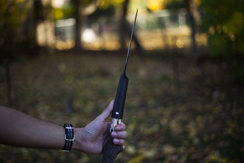 testing knife review cold steel bushman gear outdoor kit