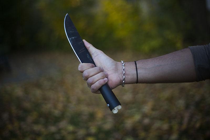 hollow handle cold steel bushman knife spear survivalist