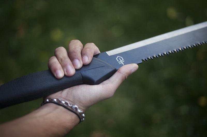 survival review blog gerber gator fixed blade machete knife