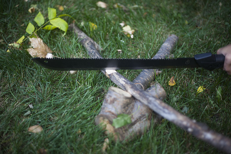 fixed blade survival knife outdoor machete tool knife review gerber