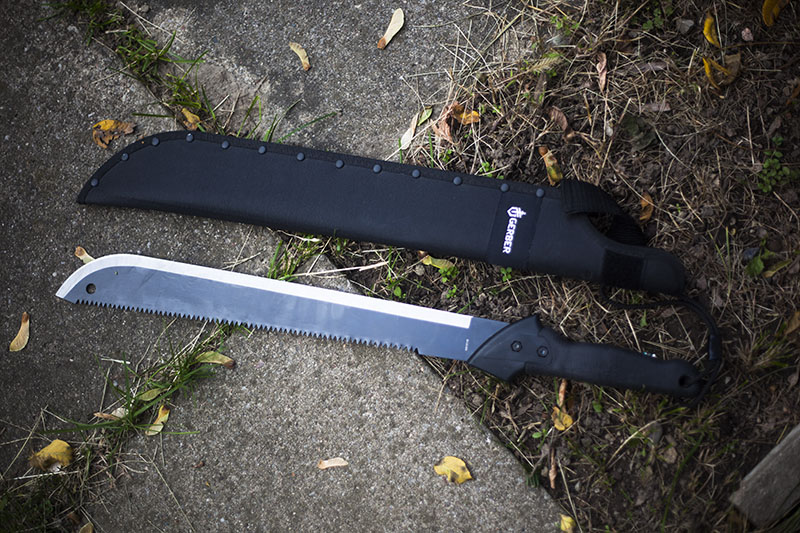 preparedness survivalist blog review gerber gator machete knife outdoor survival blade