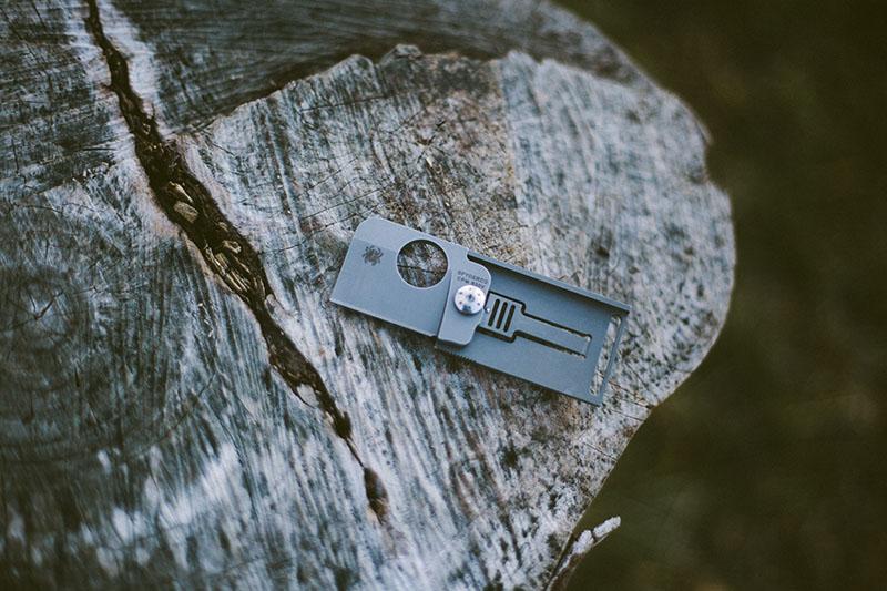 collectable unique spyderco review squarehead doc tag knife titanium