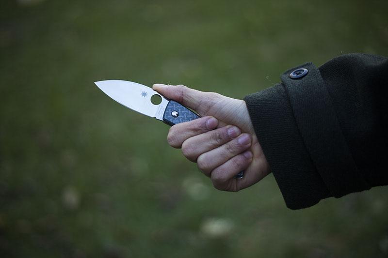 edc beautiful knife nishijin glass fibre spyderco