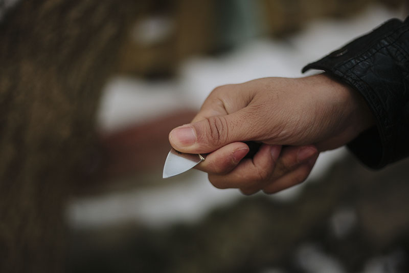 spyderco balance carbon fibre knife edc