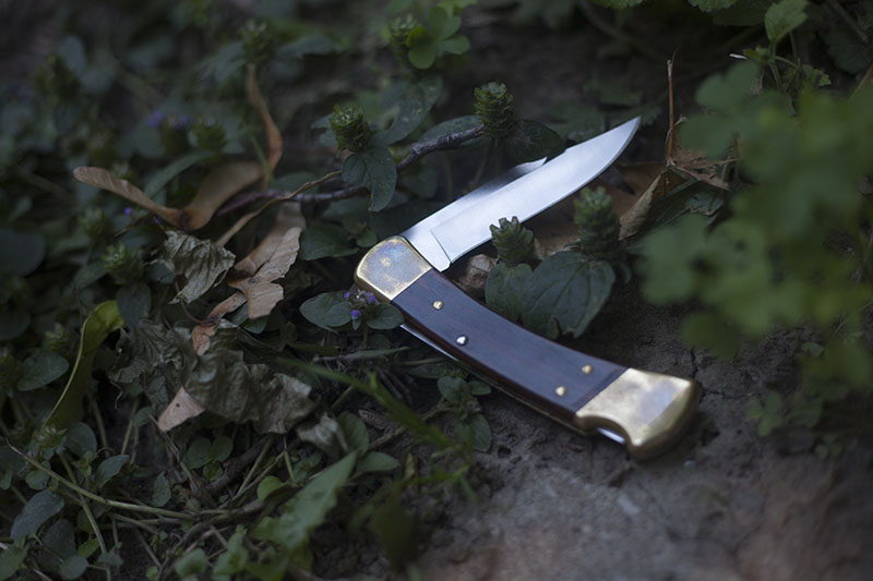 folding hunter buck 110 edc knife review