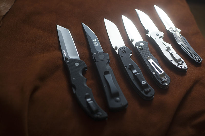 collection of knives survival blog