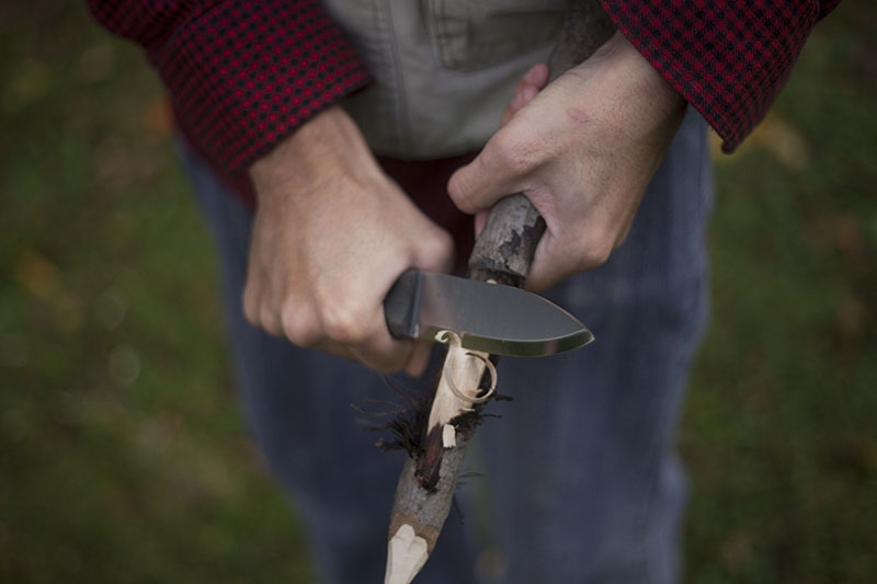 fixed blade handcrafted survival camping knife l.t. wright genesis review