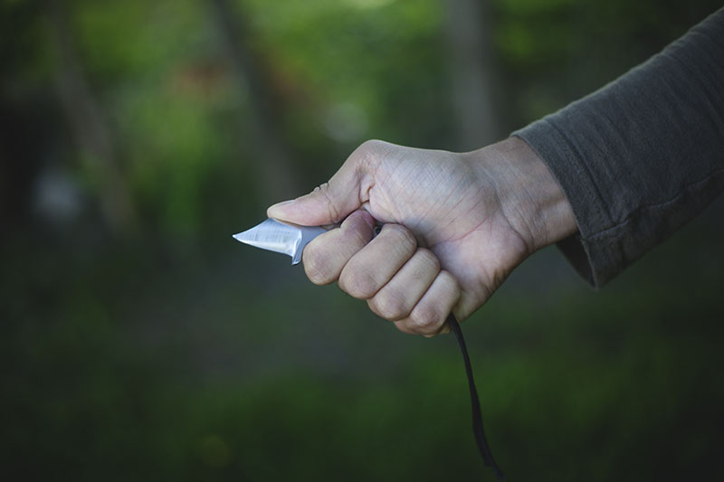 neck knife modification chad los banos boker microcom review