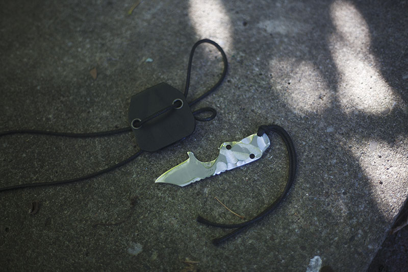 survival blog modification neck knife clb microcom