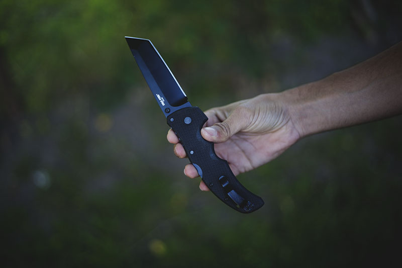 survival gear review edc cold steel tactical folding knife recon 1 tanto