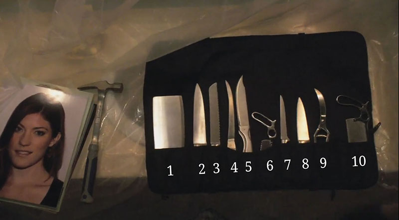 knives used on showtime dexter kill bag tv show