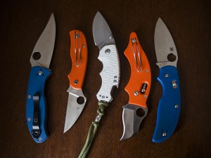 white-blue-orange-handle-folding-knives-edc-pocket-knife