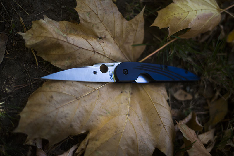 everyday carry folding edc pocket knife spyderco des horn review lightweight