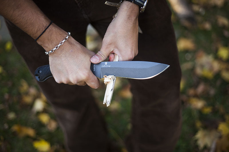 using schrade schf9 cold steel bushman knife review
