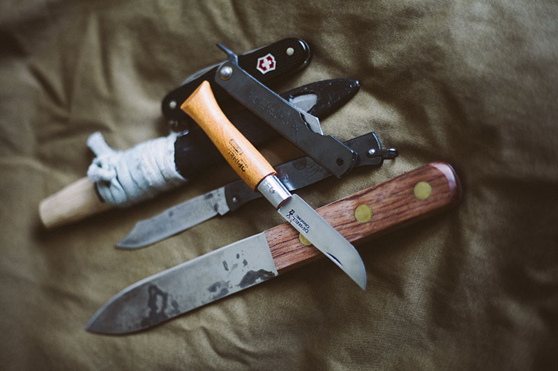 historical edc knives and outdoor knife collection pieces