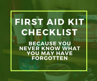 first aid supplies checklist emergency